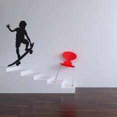 Sticker Enfant sur son skateboard
