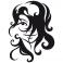 Sticker Visage jeune fille - stickers personnages & stickers muraux - fanastick.com