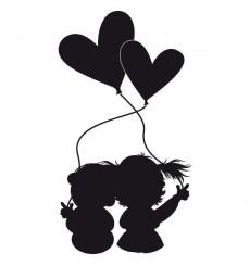 Sticker Enfants amoureux