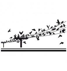 Sticker Pigeons sur poteaux