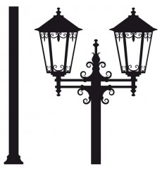 Sticker Lampadaire baroque