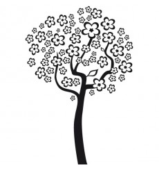 Sticker Arbre fleuri