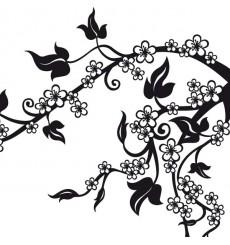 Sticker Branche fleurs