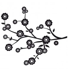 Sticker Branche fleurs modernes