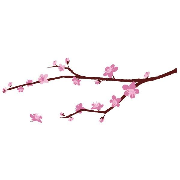 Sticker branche cerisier en fleurs stickers arbre - Dessin fleur de cerisier ...