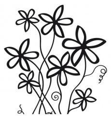 Sticker Fleurs hautes