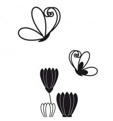 Sticker Fleurs papillons