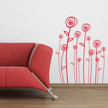 Sticker Roses - stickers nature & stickers muraux - fanastick.com