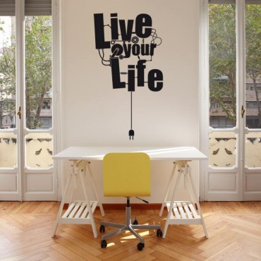 Sticker Live your life - stickers design & stickers muraux - fanastick.com