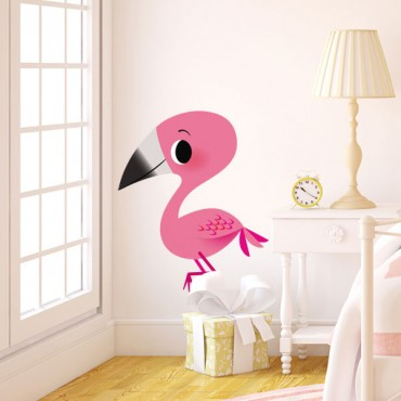 Sticker Flamant rose d'Alice - stickers alice & stickers muraux - fanastick.com