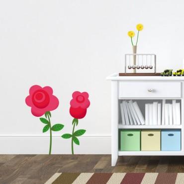 Sticker Fleurs des merveilles - stickers alice & stickers muraux - fanastick.com