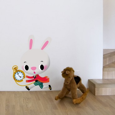 Sticker Lapin blanc - stickers animaux enfant & stickers enfant - fanastick.com