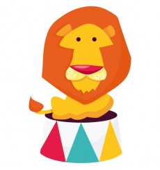 Sticker Lion sur podium