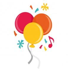 Sticker Ballons et confettis