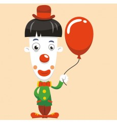 Sticker Clown ballon