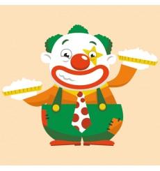 Sticker Clown tartes à la crème