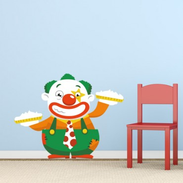 Sticker Clown tartes à la crème - stickers cirque & stickers enfant - fanastick.com