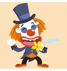 Sticker Clown blagueur