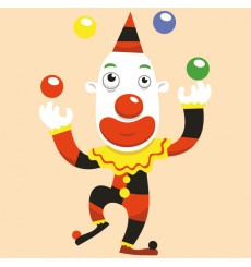 Sticker Clown jongleur