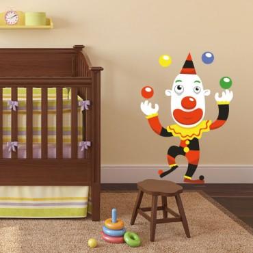 Sticker Clown jongleur - stickers cirque & stickers enfant - fanastick.com