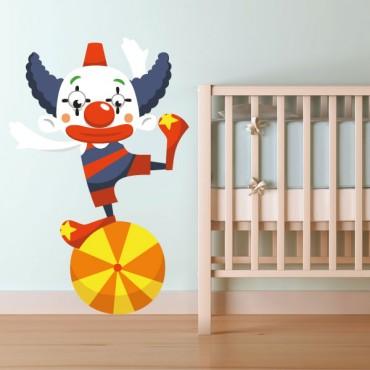 Sticker Clown équilibriste - stickers cirque & stickers enfant - fanastick.com