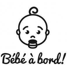 Sticker Bébé à bord visage garçon