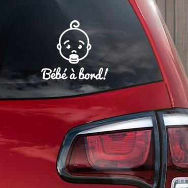 Sticker Bébé à bord visage garçon - stickers bébé à bord & stickers muraux - fanastick.com