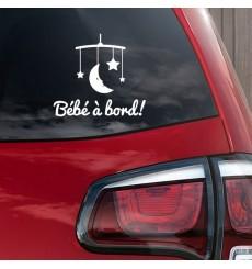 Sticker Bébé à bord mobile