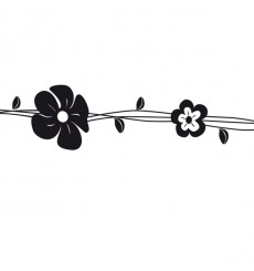 Sticker Frise fleurs
