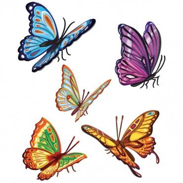 Sticker Papillons colorés - stickers animaux & stickers muraux - fanastick.com