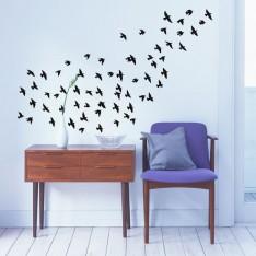 Sticker Nuage d'oiseaux