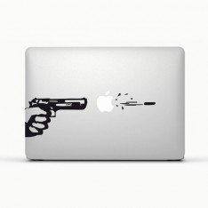 Sticker Pistolet pour Macbook et Ipad