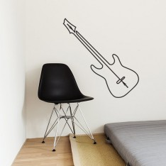 Sticker Guitare fil prise jack