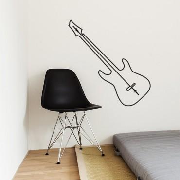 Sticker Guitare fil prise jack - stickers musique & stickers muraux - fanastick.com
