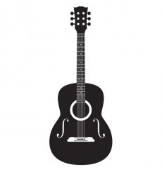Sticker Guitare folk