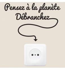 Sticker Pensez à la planète