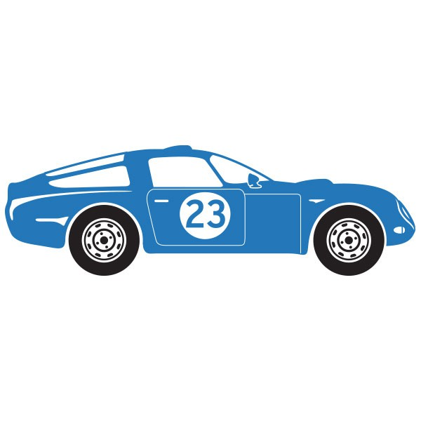 Sticker voiture de course bleu stickers chambre gar on stickers enfant for Chambre garcon voiture de course