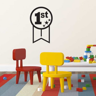 Sticker Médaille vainqueur - stickers chambre garçon & stickers enfant - fanastick.com
