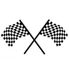 Sticker Drapeaux damier