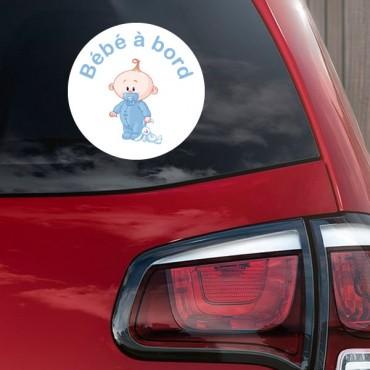 Sticker Bébé à bord garçon peluche - stickers bébé à bord & stickers muraux - fanastick.com