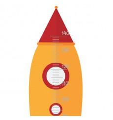 Sticker Toise fusée
