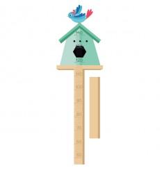 Sticker Toise maison oiseau