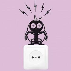 Sticker Piou piou électrocuté