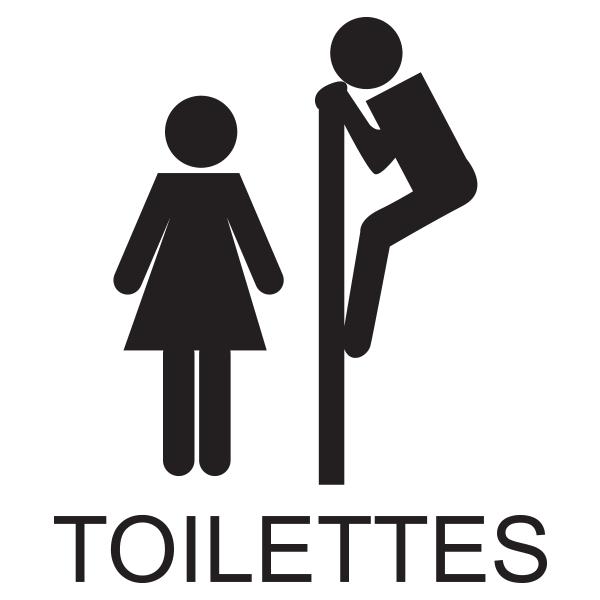 Sticker wc signal tique toilettes stickers porte - Stickers porte wc ...