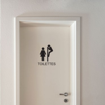 Sticker WC Signalétique toilettes - stickers porte & stickers deco - fanastick.com