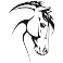 Sticker Tête de cheval - stickers animaux & stickers muraux - fanastick.com