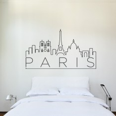 Sticker Paris sur un fil