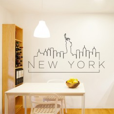 Sticker New York sur un fil
