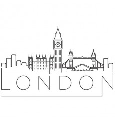 Sticker Londres sur un fil