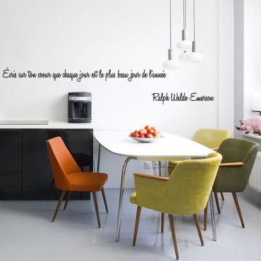 Sticker Écris sur ton cœur que chaque jour est le plus beau jour de l'année - stickers citations & stickers muraux - fanastick.com